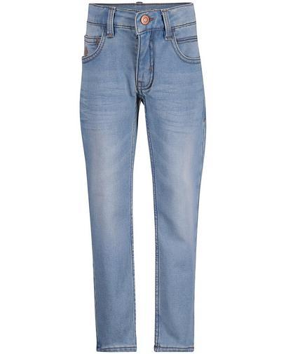 Hellblaue Slim-Jeans, Sweat-Denim